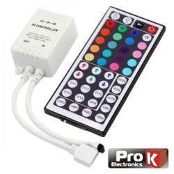 Controlador p/ Fita LEDs Rgb 12V c/Comando Prok