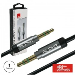 Cabo Jack 3.5mm Macho / Jack 3.5mm Macho 1M St Preto