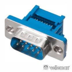 Ficha D-Sub 9P Macho p/ Flat Cable