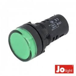 Luz Piloto Redondo de Painel 19.5mm 12V Verde Jolight