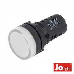 Luz Piloto Redondo de Painel 19.5mm 24V Branco Jolight