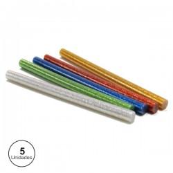 Conjunto de 5 Barras de Cola Quente 11mm Coloridas