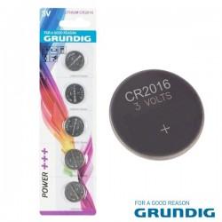 Pilha Lithium Botão Cr2016 3V 70Ma 5X Blister Grundig