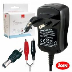 Carregador de Baterias Chumbo 6V 600Ma c/ Protecção Join
