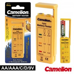 Testador de Baterias Universal AA/AAA/c/D/9V Camelion