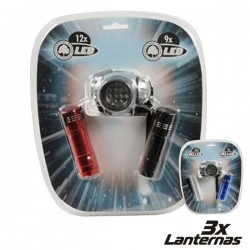 Conjunto 3 Lanternas 2 X 9 Leds + 1 X 12 Leds