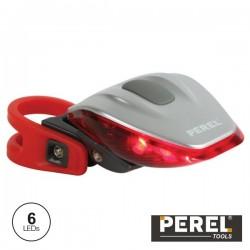 Luz de Segurança p/ Bicicletas c/ 6 Leds Perel