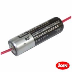 Pilha Lítio Li-SOCl2 AA 3.6V 2400mA c/ Fios - ER14505