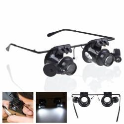 Óculos c/ Lupa 20X E 2 Leds Brancos