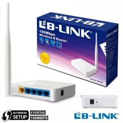Router Wifi 1 Antena 802.11B/G/N 150Mbps 4 Port Wps Lb-Link