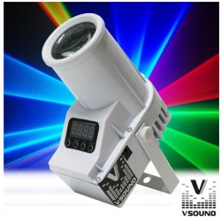 Projector Led 12W Rgbw Abs Dmx Vsound