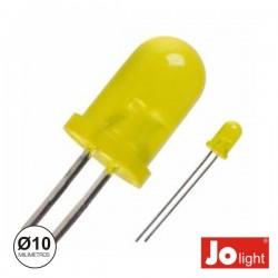 Led 10mm Alto Brilho Amarelo Difuso Jolight