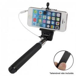 Vara Telescópica Monopod p/ Selfies c/ Ficha Jack 3.5mm