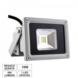 Projector Led 10W 85-265V Branco Quente 900Lm Ip65 Eco