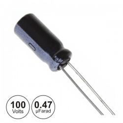 Condensador Electrolitico 0.47Uf 100V 105º