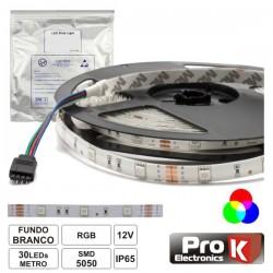 Fita 150 LEDs 5050 IP65 RGB 12V 5M - Prok