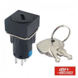 Comutador c/ Chave de 2 Circuitos 230V 2No-2Nc Quadrado