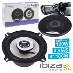 "Conjunto 2 Colunas Auto 2 Vias 120W 4"" Ibiza"