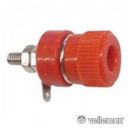 Borne Vermelho 4mm Conectores Niquelados