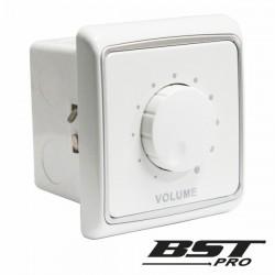 Regulador de Som 30W 100V Interior Parede Branco Bstpro