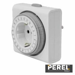 Temporizador Analógico Compacto Ajustável 24H - Perel