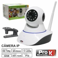 Camara Vigilância Ip 720P S/ Fios Wi-Fi Rotativa Prok