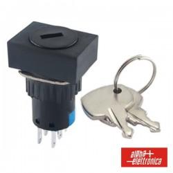 Comutador c/ Chave de 2 Circuitos 230V 2No-2Nc Rectangular