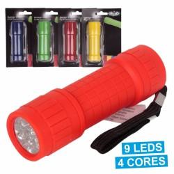 Lanterna 9 Leds Em Plástico