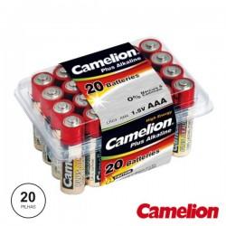 Pilha Alcalina Lr03/AAA 1.5V 20X Blister Camelion