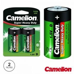 Pilha Zinco-Carvão Lr20/D 1.5V 8000Ma 2X Blister Camelion