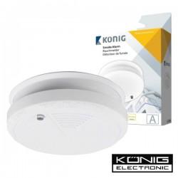 Detector de Fumos Óptico c/Alarme Konig
