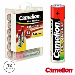 Pilha Alcalina Lr03/AAA 1.5V 12X Blister Camelion