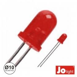 Led 10mm Alto Brilho Vermelho Difuso Jolight