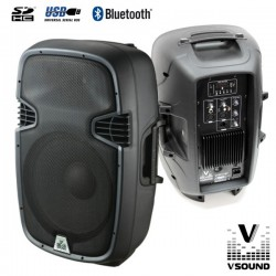 "Coluna Amplificada 12"" 400W Usb/Sd/Bluetooth Vsound"