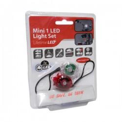 Conjunto de 2 Lanternas LED p/ Bicicleta