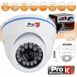 """Camara Vigilância Dome Ahd cmos 1Mp Cores 1000L 1/4"""" Ip66 Pr"""