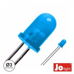 Led 3mm Alto Brilho Azul Difuso Jolight