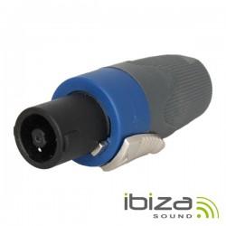 Ficha Speakon 4P Macho c/ Protecção e Bloqueio Ibiza
