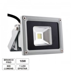 Projector Led 10W 85-265V Branco Frio 900Lm Ip65 Eco