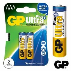 Pilha Alcalina LR03/AAA 1.5V 2X Blister - GP Ultra Plus