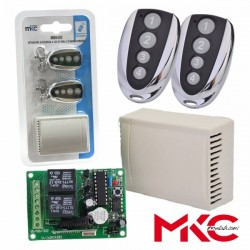 Kit Emissor Receptor de 2 Canais E 2 Comandos Interior Mkc