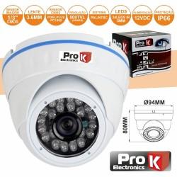 """Câmara Vigilância Dome Cmos Cores 800L 1/3"""" Ip66 Prok"""