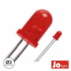 Led 3mm Alto Brilho Vermelho Difuso Jolight