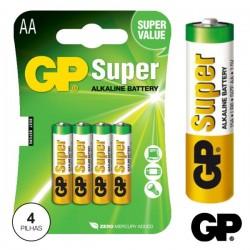 Pilha Alcalina Lr6/AA 1.5V 4X Blister Gp