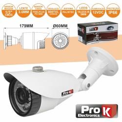 """Câmara Vigilância Cmos Cores 800L 1/3"""" Ip66 Prok"""