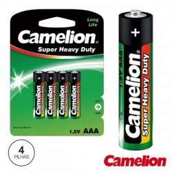 Pilha Zinco-Carvão Lr03/AAA 1.5V 4X Blister Camelion