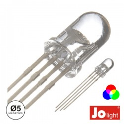 Led 5mm Multicor Rgb Difuso Jolight