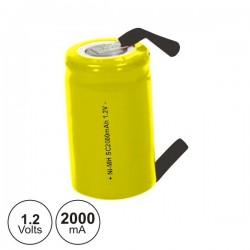 Bateria Ni-Cd Sc 1.2V 2000Ma c/ Patilhas