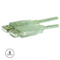 Cabo USB tipo-A macho / USB tipo-A fêmea 5m