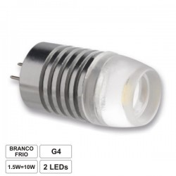 Lâmpada leds G4 branco quente 1.3w 10-30vdc